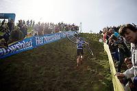 Helen Wyman (GBR/Kona) for some serious climbing<br /> <br /> GP Mario De Clercq 2014<br /> Hotond Cross<br /> CX BPost Bank Trofee - Ronse