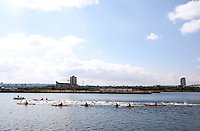 08 AUG 2010 - LONDON, GBR - The Elite Mens race gets underway  at the  2010 Challenger World London Triathlon .(PHOTO (C) NIGEL FARROW)