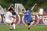 Andres Acevedo (10) of the Academy Select Team. The US U-17 Men's National Team defeated the Development Academy Select Team 3-1 during day one of the US Soccer Development Academy  Spring Showcase in Sarasota, FL, on May 22, 2009.