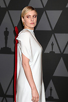 HOLLYWOOD, CA - NOVEMBER 11: Greta Gerwig at the AMPAS 9th Annual Governors Awards at the Dolby Ballroom in Hollywood, California on November 11, 2017. <br /> CAP/MPI/DE<br /> &copy;DE/MPI/Capital Pictures