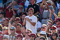 STANFORD, CA - OCTOBER 19, 2013: Fans during Stanford's game against UCLA. The Cardinal defeated the Bruins 24-10.