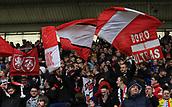 5th November 2017, Riverside Stadium, Middlesbrough, England; EFL Championship football, Middlesbrough versus Sunderland; Middlesbrough fans celebrating their 1-0 win over Sunderland