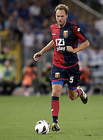Calcio, Serie A: Lazio vs Genoa. Roma, stadio Olimpico, 23 settembre 2012..Genoa defender Andreas Granqvist, of Sweden, in action during the Italian Serie A football match between Lazio and Genoa at Rome's Olympic stadium, 23 September 2012. UPDATE IMAGES PRESS/Riccardo De Luca