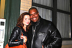 """General Hospital Florencia Lozano (OLTL) poses with Shawn Ringgold (One Life To Live) as she stars in """"Red Dog Howls"""" as it opens on September 24, 2012 at New York Theatre Workshop in New York City, New York with the after party at Phebe's.  (Photo by Sue Coflin/Max Photos)"""