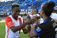 San Jose, CA - Saturday June 17, 2017: Cordell Cato prior to a Major League Soccer (MLS) match between the San Jose Earthquakes and the Sporting Kansas City at Avaya Stadium.