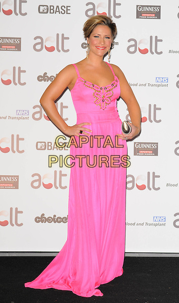 HEIDI RANGE .Afro Caribbean Leukaemia Trust Gift Of Life Ball at the Inter-Continental Hotel, Park Lane, London, England, September 20th 2008..full length gold long maxi dress Sugababes hands on hips .CAP/CAN.©Can Nguyen/Capital Pictures