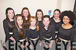 Clodagh Byrne, Hillary Jones, Rebecca Walsh, Majella Votla, Mary Fitzpatrick, Jessica Moynihan, Aisling Gutterige and Sophie Byrne from Stacks, Tralee pictured last Friday night at the Scor na NOg in Knocknagoshal