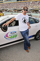 HOMESTEAD, FL - NOVEMBER 18: Kid Rock poses with the pace car at the NASCAR Sprint Cup Series Ford Ecoboost 400 at Homestead-Miami Speedway on November 18, 2012 in Homestead, Florida.  Credit: mpi04/MediaPunch Inc. NortePhoto