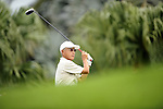 TAIPEI, TAIWAN - NOVEMBER 19:  Chun-ching Uong of Taiwan tees off on the 10th hole during day two of the Fubon Senior Open at Miramar Golf & Country Club on November 19, 2011 in Taipei, Taiwan. Photo by Victor Fraile / The Power of Sport Images