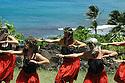 Hula Dancers on the island of Kauai in Hawaii.  Shot on location for Idanha Films.