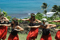 Hula Dancers on the island of Kauai in Hawaii.  Shot on location for Idanha Films.