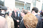 Taoiseach Brian Cowen visits Drogheda to open the Office of Senator James Carroll.  Pictured here meeting Frank Maher...Photo NEWSFILE/Jenny Matthews.(Photo credit should read Jenny Matthews/NEWSFILE)....This Picture has been sent you under the condtions enclosed by:.Newsfile Ltd..The Studio,.Millmount Abbey,.Drogheda,.Co Meath..Ireland..Tel: +353(0)41-9871240.Fax: +353(0)41-9871260.GSM: +353(0)86-2500958.email: pictures@newsfile.ie.www.newsfile.ie.FTP: 193.120.102.198.