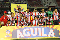 BARRANQUILLA  -COLOMBIA, 28-08-2016. Formación  del Junior contra Fortaleza   durante encuentro  por la fecha 10 de la Liga Aguila II 2016 disputado en el estadio Metroplitano Roberto Meléndez ./ Team of Junior aganst Fortalza during match for the date 10 of the Aguila League II 2016 played at Metroplitano Roberto Melendez stadium . Photo:VizzorImage / Alfonso Cervantes  / Contribuidor