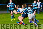 No holding back as Tralee's Riona Kennedy crosses the line for Tralee first try against Shannon in the Ladies Munster league in O'Dowd Park on Sunday.