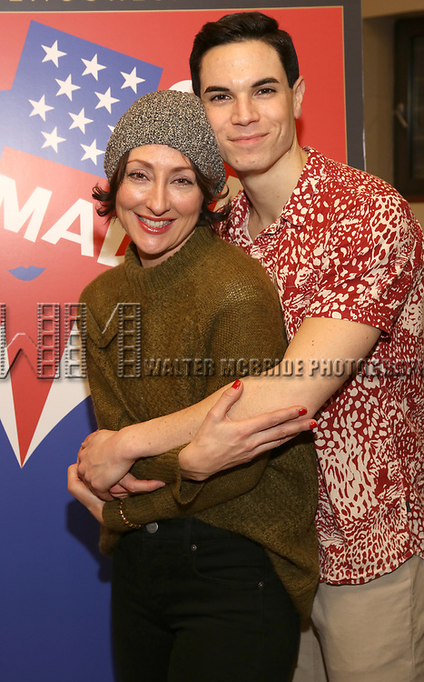 """Carmen Cusack and Jason Gotay attends the closing Night performance reception for Encores! """"Call Me Madam"""" at City Center on February 10, 2019 in New York City."""