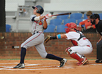 Photo of the Johnson City Cardinals, Appalachian League affiliate of the St. Louis Cardinals, in a game against the Danville Braves on August 19, 2011, at Howard Johnson Field in Johnson City, Tennessee. Danville defeated Johnson City, 5-4, in 16 innings. (Tom Priddy/Four Seam Images)