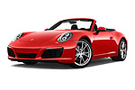 Stock pictures of low aggressive front three quarter view of a 2017 Porsche 911 Carrera 2 Door Convertible