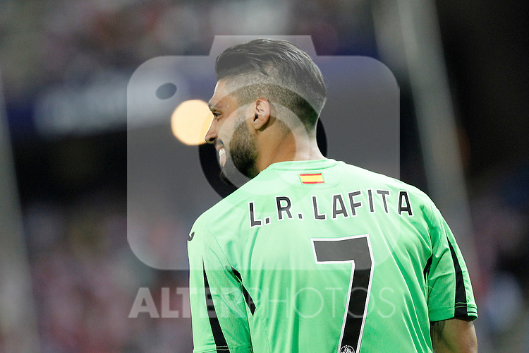 Getafe's Angel Lafita during La Liga match.September 22,2015. (ALTERPHOTOS/Acero)