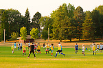 Children Playing Soccer at Fernhill Park, NE Portland, Oregon