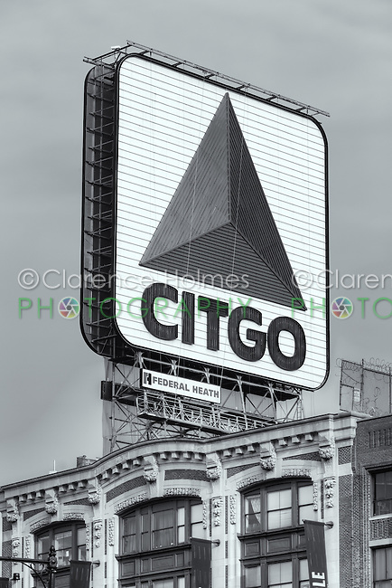 The famous CITGO sign in Kenmore Square, Boston, Massachusetts