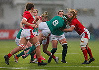 9th February 2020; Energia Park, Dublin, Leinster, Ireland; International Womens Rugby, Six Nations, Ireland versus Wales; Anna Caplice of Ireland is tackled by Keira Bevan of Wales