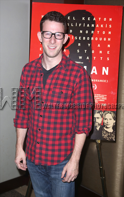 Nick Blaemire attends the Broadway Industry Screening of 'Birdman' at Dolby 88 on October 13, 2014 in New York City.