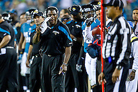 December 05, 2011:   Jacksonville Jaguars interim head coach talks with an official during first half action between the Jacksonville Jaguars and the San Diego Chargers played at EverBank Field in Jacksonville, Florida.  ........