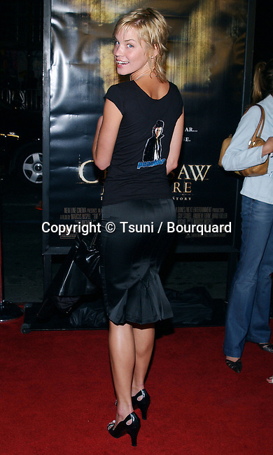"Ashley Scott arriving at the "" TEXAS CHAINSAW MASSACRE PREMIERE "" at the Chinese Theatre in Los Angeles. October 15, 2003."