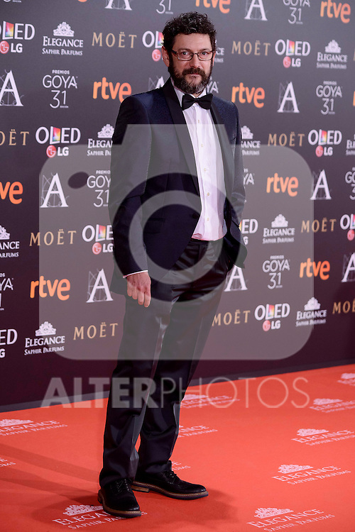 Manolo Solo attends to the Red Carpet of the Goya Awards 2017 at Madrid Marriott Auditorium Hotel in Madrid, Spain. February 04, 2017. (ALTERPHOTOS/BorjaB.Hojas)