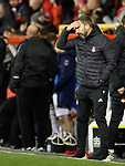 06.02.2019:Aberdeen v Rangers: Derek McInnes despondent near the end as Jermain Defoe scores for Rangers