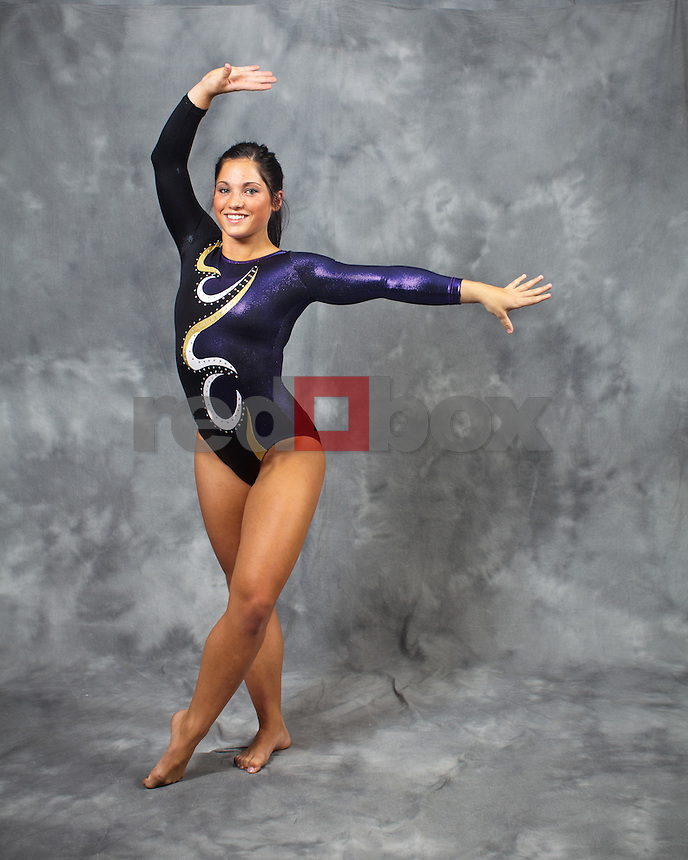 Madison Podlucky..---------2011-2012 University of Washington Gymnastics team photographed on Thursday, September 22, 2011. (Photo by Dan DeLong/Red Box Pictures)