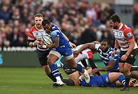 4th January 2020; Kingsholm Stadium, Gloucester, Gloucestershire, England; English Premiership Rugby, Gloucester versus Bath; Semesa Rokoduguni of Bath makes a break - Editorial Use
