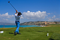 Yassine Touhami (MAR) on the16th tee during Round 2 of the Rocco Forte Sicilian Open 2018 on Friday 11th May 2018.<br /> Picture:  Thos Caffrey / www.golffile.ie<br /> <br /> All photo usage must carry mandatory copyright credit (&copy; Golffile | Thos Caffrey)