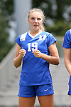 06 September 2015: Duke's Schuyler DeBree. The Duke University Blue Devils hosted the University of California Bears at Koskinen Stadium in Durham, NC in a 2015 NCAA Division I Women's Soccer match. California won the game 3-1.