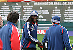 17 November 2007: Shalrie Joseph (GRN). The New England Revolution practiced at RFK Stadium in Washington, DC one day before playing in MLS Cup 2007, Major League Soccer's championship game.