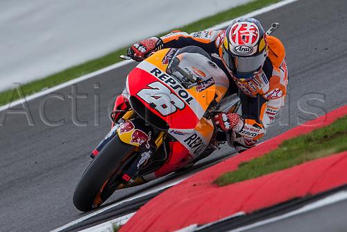 26th August 2017, Silverstone Circuit, Northamptonshire, England; British MotoGP, Qualifying; Repsol Honda Team MotoGP rider Dani Pedrosa