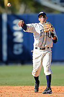 28 February 2010:  FIU's Junior Arrojo (13) throws to first as the FIU Golden Panthers defeated the Oral Roberts Golden Eagles, 7-6 (10 innings), at University Park Stadium in Miami, Florida.