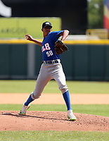 Abraham Calzadilla participates in the MLB International Showcase at Estadio Quisqeya on February 22-23, 2017 in Santo Domingo, Dominican Republic.
