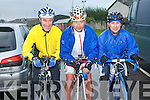 CONOR PASS CHALLENGE: Having a great time at the Chain Gang Cycling Club cycle challenges, The Conor Pass Challenge and The Blasket Blast at the Kerins O'Rahilly's clubhouse on Saturday l-r: Mike Hanly, Paul Kirby and Thomas O'Keeffe.