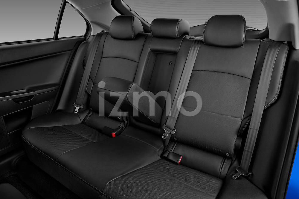 Rear seats in a 2012 Mitsubishi Lancer Sportback GT