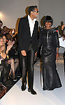 Tamara Tunie (front row) applauds Guiding Light Cicely Tyson as she walks the runway with B. Michael in B Michael America Couture Collection - Fall/Winter collection (Fashion Show) on February 15, 2011 at the Plaza Hotel, New York City, New York. (Photo by Sue Coflin/Max Photos)