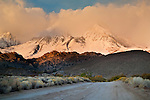 Snowstorm in mountains above the Buttermilk Region, Eastern Sierra, California