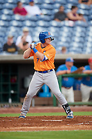 St. Lucie Mets shortstop Dale Burdick (7) at bat during a game against the Clearwater Threshers on August 11, 2018 at Spectrum Field in Clearwater, Florida.  St. Lucie defeated Clearwater 11-0.  (Mike Janes/Four Seam Images)