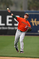 March 2, 2010:  Scott Lawson of the Miami Hurricanes during a game at Legends Field in Tampa, FL.  Photo By Mike Janes/Four Seam Images