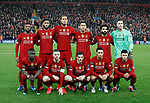 Back row from Left: Georginio Wijnaldum, Joe Gomez, Virgil van Dijk, Roberto Firmino, Mohamed Salah, Adrian. Front row from left: Sadio Mane, Jordan Henderson, Andrew Robertson, Trent Alexander-Arnold and Alex Oxlade-Chamberlain of Liverpool during the UEFA Champions League match at Anfield, Liverpool. Picture date: 11th March 2020. Picture credit should read: Darren Staples/Sportimage