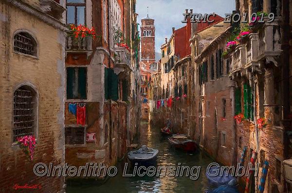 Marcello, LANDSCAPES, LANDSCHAFTEN, PAISAJES, paintings+++++,ITMCEO1019,#l#, EVERYDAY ,puzzles