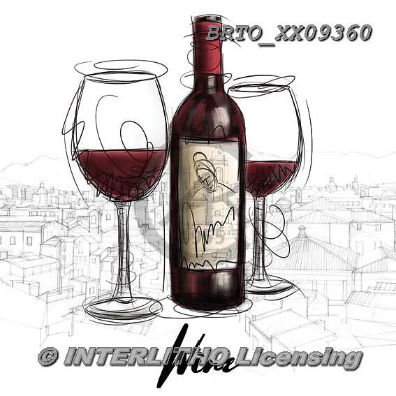 Alfredo, STILL LIFE STILLLEBEN, NATURALEZA MORTA, paintings+++++,BRTOXX09360,#i# ,wine ,wine