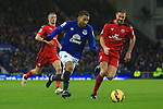 Aaron Lennon of Everton gets in a cross - Everton vs. Leicester City - Barclay's Premier League - Goodison Park - Liverpool - 22/02/2015 Pic Philip Oldham/Sportimage