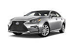 Stock pictures of low aggressive front three quarter view of 2018 Lexus ES 300h 4 Door Sedan Low Aggressive