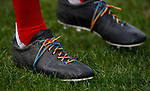 Rainbow laces during the The FA Women's Championship match at the Proact Stadium, Chesterfield. Picture date: 8th December 2019. Picture credit should read: Simon Bellis/Sportimage
